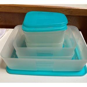 Vintage Tupperware Freezer Mate Set - 14 piece